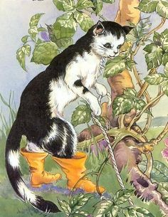 """from """"Puss in boots"""", retold and illustrated by Rene Cloke, London, Dean, 1969"""