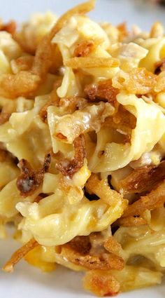 French Onion Chicken Noodle Casserole - delicious! Good make-ahead freezer meal, too.
