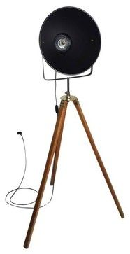 Vintage Style 1920's Film Studio Tripod Light - modern - floor lamps - new york - Second Shout Out