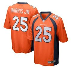 Men's Denver Broncos #25 Chris Harris Jr Orange Stitched Nike NFL Home Elite Jersey