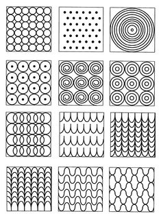graphisme blonde ombre on black hair - Ombre Hair Doodle Patterns, Doodle Designs, Zentangle Patterns, Basic Drawing, Drawing For Kids, Art For Kids, Form Drawing, Zentangle Drawings, Doodles Zentangles