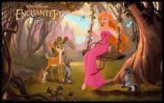 Enchanted - Giselle + Friends by ~davidkawena on deviantART