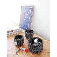 Neo, neoprine baskets... Meaning made from recycled materials both the dinky and the large ones are super gorgeous...