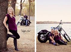 Motorcycle theme engagement; motorcycle engagement   Nikki Tran Photography