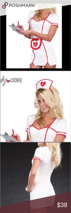 SEXY NAUGHTY NURSE COSTUME YANDY COSPL HALLOWEEN S SEXY NAUGHTY NURSE COSTUME YANDY COSPLAY HALLOWEEN WMNS SZ S $60 Nurse dress includes the dress and headpiece. Clipboard. Very sexy. From Yandy.com-well-made costumes. Will ship same day of purchase to get to you by Halloween!  Bundle to save on multiple items-TONS of cute stuff in my closet! Combined shipping discount with purchase of additional items. All items come from a CLEAN, SMOKE-FREE home Yandy Dresses