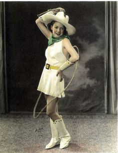1930s rodeo girl, vintage western costume