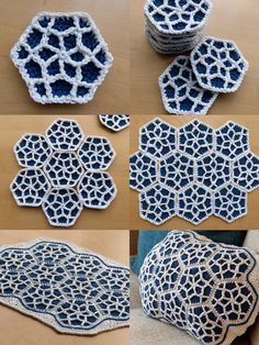 Moroccan Hexagon Motif - Blocking and Making Up - Free Crochet Pattern by Make My Day Creative ~ k8~