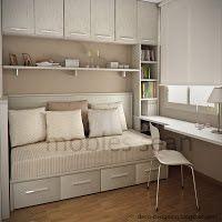 Habitaciones Juveniles - Comfortable Tutorial and Ideas Single Bedroom, Room Design, Office Furniture Design, Small Room Design, Luxury Bedroom Furniture, Luxurious Bedrooms, Teenage Bedroom, Bedroom Layouts, Trendy Bedroom
