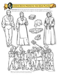 Joseph Smith Marries Emma Hale Coloring Page