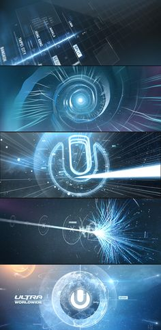 Ultra Worldwide on Behance   ________________________________________ The particles being used to create interesting shapes out of light is incredibly cool here.  On top of that the combination of 3d Effects with UI is reminiscent of other works I enjoy such as Tron: Legacy, or Oblivion  UI.  While not standardly used, futuristic HUD/UI design for movies or ads is very interesting, despite being impractical for true UI/UX design.