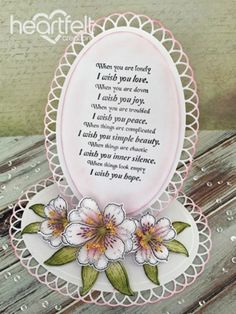 Heartfelt Creations | Pink Lilies Easel Card