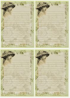 A Girl in Her Bonnet Journal Cards