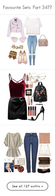 """Favourite Sets: Part 34❣️"" by moon-crystal-wolff ❤ liked on Polyvore featuring Roberto Cavalli, MANGO, Topshop, Le Specs, Semilla, Alexander McQueen, Sans Souci, Urban Expressions, Essie and Bobbi Brown Cosmetics"