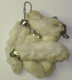 rabbit foot keychains.