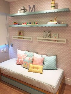 Awesome Quarto Infantil Decorado Com Prateleiras that you must know, Youre in good company if you?re looking for Quarto Infantil Decorado Com Prateleiras Baby Bedroom, Girls Bedroom, Bedroom Decor, Baby Rooms, Bedroom Colors, Kids Rooms, Bedroom Ideas, Deco Kids, Little Girl Rooms