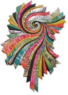 """Festive polymer wall piece called """"Garden of the Hesperides"""" by Jayne Hoffman.  Gorgeous!"""