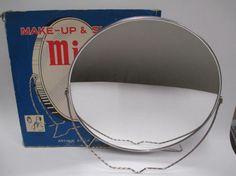 Vintage Make Up & Shaving Vanity Mirror  Large 10