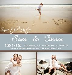 Save the date on the beach....Wells Maine