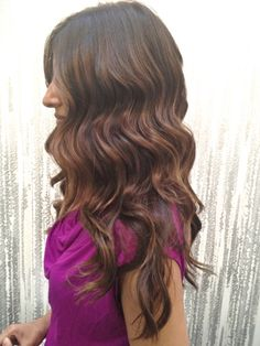 dark brown with golden auburn/light brown highlights, subtle ombre. OH My!!!  [Neil George]
