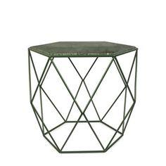 Zelený odkladací stolík HF Living Gemstone