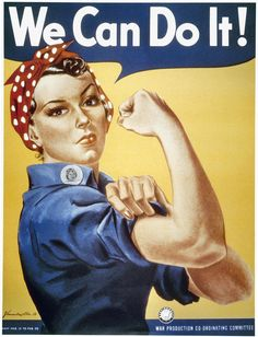 Rosie the Riveter is one inspiring gal! Check out other inspiring women on www.rosiemade.com
