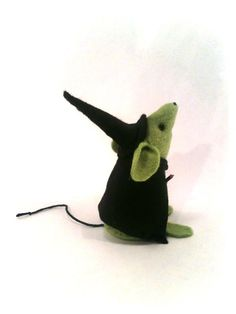 Halloween Ornament - Little Witch Mouse - a Unique handmade felt mouse ornament, a different gift for Halloween - READY FOR SHIPPING. £10.00, via Etsy.