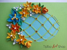 This card is made especially for Easter, but can be also used for a different occasion. Its my original design. Every part of it is handmade with a lot of attention and heart. I made the card in quilling technique, also known as paper filigree. Its decorated with paper cut egg,