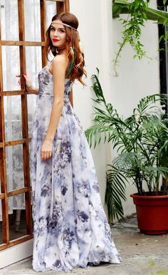 Spaghetti strap lily floral printed floor length summer maxi dress Details  Polyester,Cotton Chiffon Imported Delicate Cold Wash Fits One Size Small