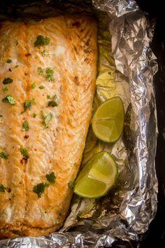 honey-lime salmon 2 Mango Avocado Salsa, Salmon, Lime, Honey, Turkey, Meat, Food, Limes, Turkey Country