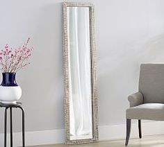 Foundrey Floor Mirror Leaning Floor Mirrors | Pottery Barn