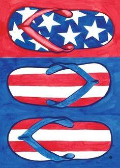 Patriotic flip flops...possible canvas painting