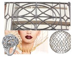 The inspiration board for the Hearts On Fire Copley Dome Ring - blends historical ironwork and vogue fashion #inspiration #jewelry #CopleyCollection | heartsonfire.com