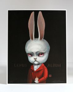 The White Rabbit Limited Edition Alice in Wonderland by mabgraves, $75.00