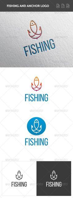 Fishing and Anchor Logo