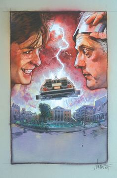 """Concept art for """"Back to the Future"""" - 1985."""