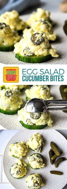 Think you can't get veggies & protein into your child after a long day at school? Think again. Cucumber Egg Salad Bites make after school snacks a cinch. Low carb & gluten free, these Cucumber Egg Salad bites are one of our Best After School Snacks! High Protein Snacks, Healthy Snacks, Healthy Eating, Healthy Recipes, Fast Recipes, Keto Snacks, Salad Recipes, Keto Recipes, Clean Eating