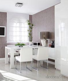 Zona de comedor con mesa extensible
