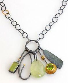 Spring Green Cluster necklace