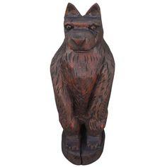 Hand Carved Folk Art Bear on From Maine