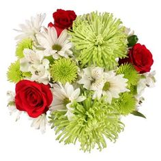 Red Rose Holiday Centerpiece - 5 Holiday Centerpieces