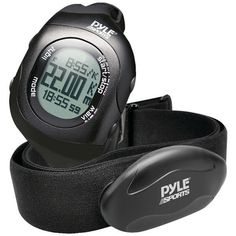 Bluetooth(R) Fitness Heart Rate Monitoring Watch with Wireless Data Transmission & Sensor (Black) - PYLE-SPORTS - PSBTHR70BK
