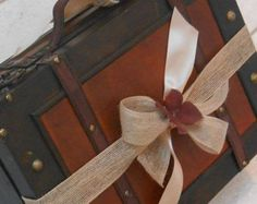 10% OFF SALE Wedding Card Box / Rustic Card Trunk / by TheLaceMoon
