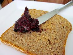 Easy Blueberry Chia Seed Jam  (no added sugar, no cooking, about 16 calories per tbsp.)