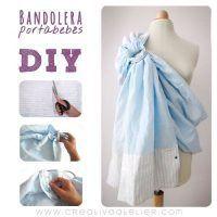 Cómo hacer una Bandolera portabebés DIY Diy Bebe, Baby Sling, Maternity Nursing, Sewing For Kids, Baby Patterns, Baby Wearing, Baby Kids, Baby Baby, Kids Outfits