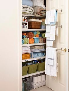 WILL do this with small linen closet! home-ideas
