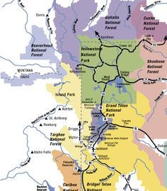 Jackson, WY area map Jackson Wyoming, Jackson Hole, Area Map, Island Park, Home Of The Brave, Lake Park, Forest Park, National Forest, Idaho