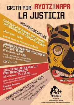PRIMER ANIVERSARIO DE AYOTZINAPA EN MADRID: DEL 19 AL 26 DE SEPTIEMBRE