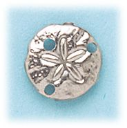 Simply Whispers Jewelry pierced Earrings silver stainless steel posted small sand dollar