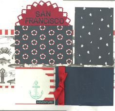San Francisco - 2 page scrapbooking layout kit by CropALatteToGo on Etsy