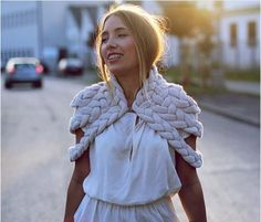 This chunky shrug is no doubt a statement piece. It was meticulously knitted and then handstitched into this delightfully soft capelet. Not only is it a showstopper, but also the most versatile...